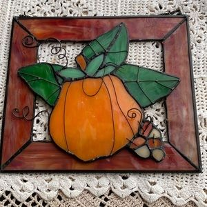 Vintage Stained Glass Pumpkin!